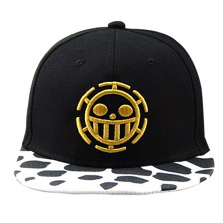 GL Unisex FLAT Trucker หมวก Skull รูปแบบอะนิเมะกฎหมายเบสบอลหมวก Strapback หมวก One Piece หมวก