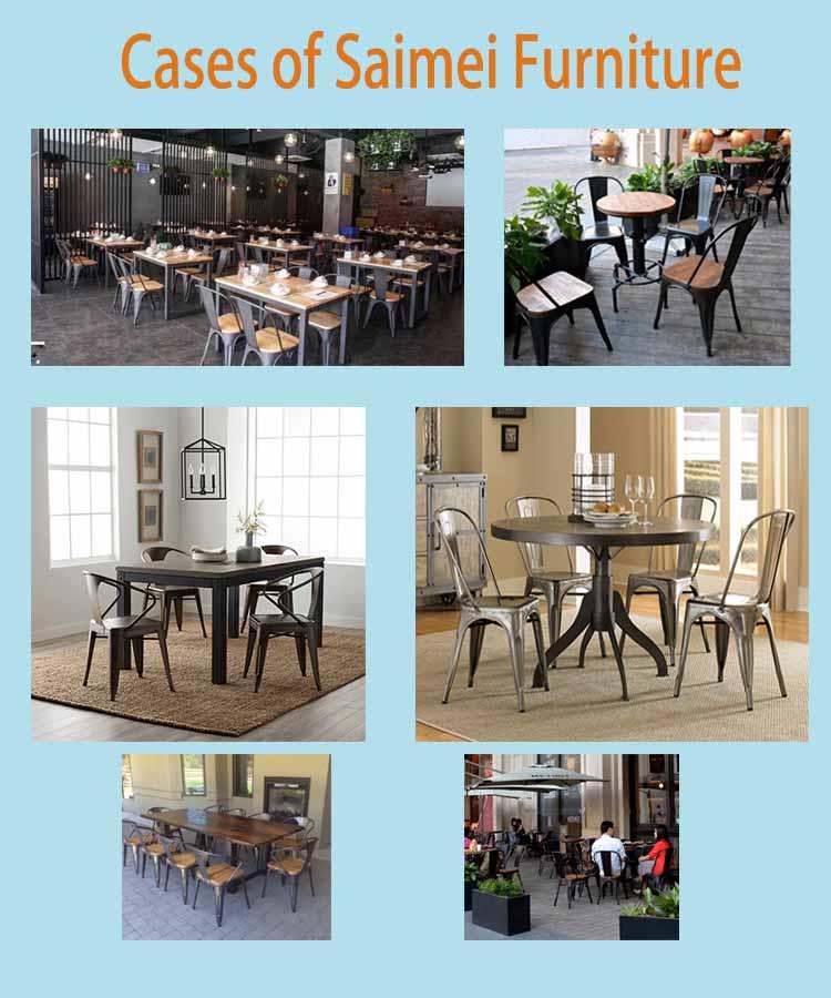 नई डिजाइन कुर्सी भोजन कैफे कुर्सी धातु फ्रेम प्लाईवुड के साथ बिक्री के लिए इस्तेमाल किया