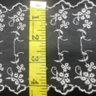 White Swiss Transparent White Shredded Milk Lace Fabric Textiles