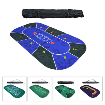 1.2*0.6M poker mat Texas Hold'em Poker Suede Rubber Table Cloth Top Digital printing Casino Board Game Poker Accessory