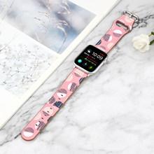 Женский ремешок для часов Apple watch 5 4 3 2 1 полоса 38 42 мм кожаный ремешок для часов iwatch Series 5 4 44 40 мм(China)