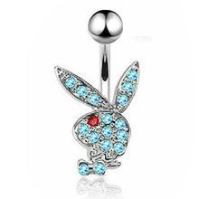 1/2 шт, милое кольцо на пуху кролика, 14 г, кольцо для пирсинга живота кролика, сексуальное пирсинг пупка кролика, Ювелирное кольцо на пупок(Китай)