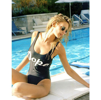 Custom Factory Price Summer Swimsuit Hot Sexy Colorful One Piece dropship Bikini Halter low Cut Women Trend Swimwear