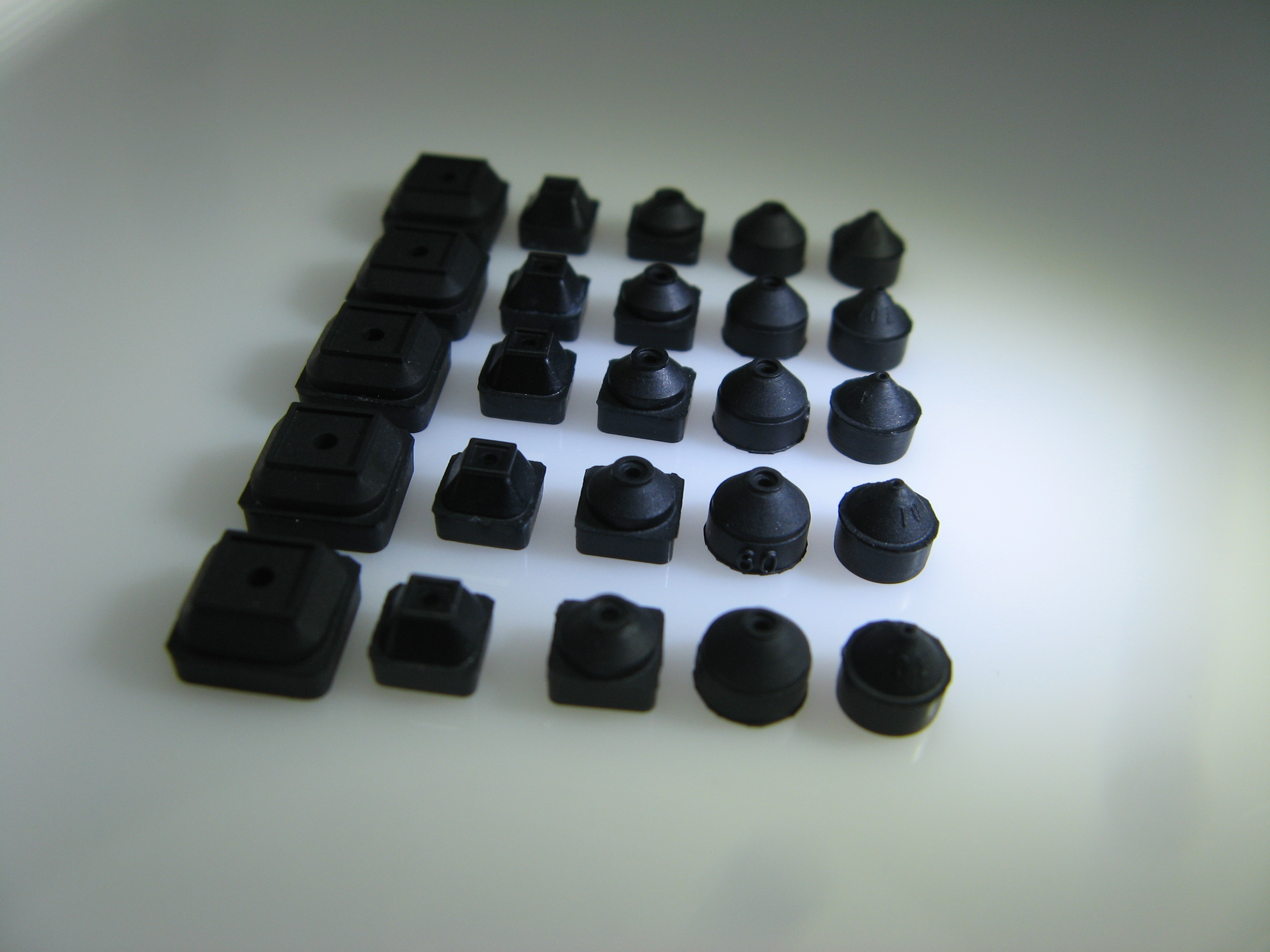 High quality Self-Dissipative NBR Round Series Replaceable Rubber Tips