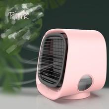 Настольный кондиционер, воздушный охладитель, увлажнитель, портативный очиститель для дома, комнаты, офиса, тихий вентилятор охлаждения, 3 с...(China)