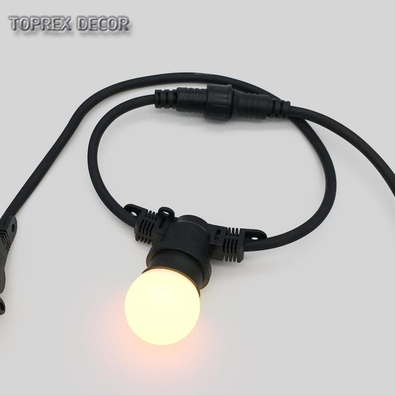 Wholesale 20m e27 lamp holder outdoor connectable light bulbs decorative string patio festoon bulb string lights