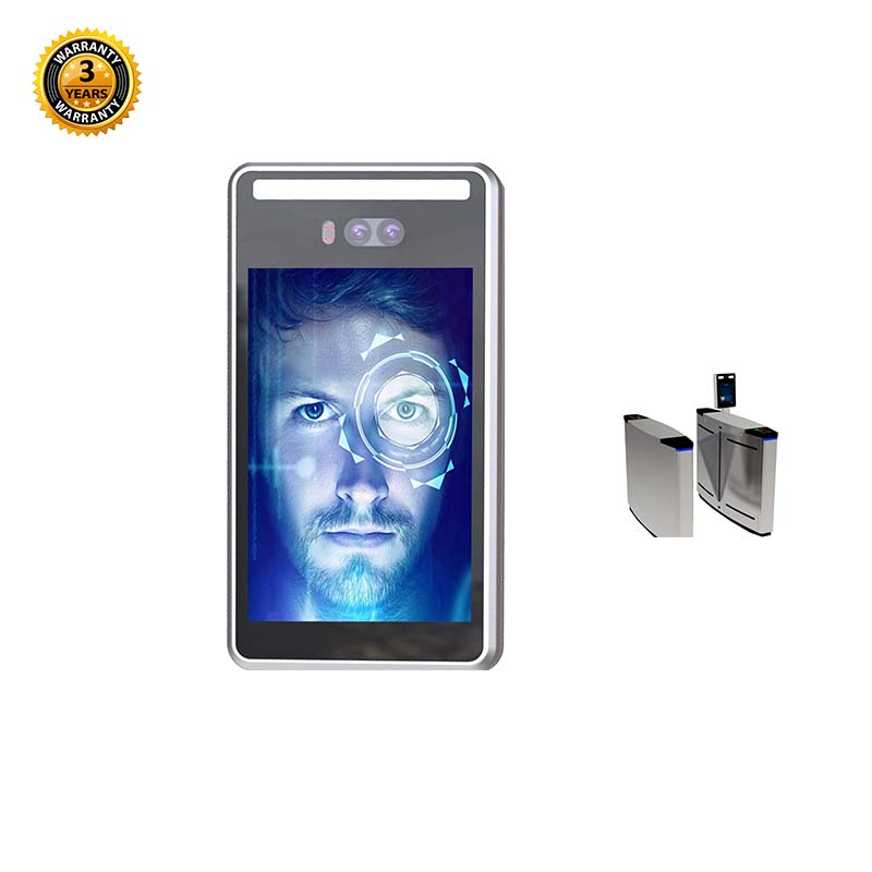 IP66 Facial Terminal เวลา 120dB WDR กล้องคู่ Biometric Face Recognition