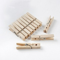 Large Laundry Natural Wooden Clothes Pegs For Cloth 10CM Big Birch Wooden Clothes Pegs/Clips/Pins