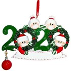 2020 Christmas Decoration White Family Quarantine Survivor Christmas Tree Hanging Ornaments