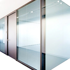 High Quality 108mm Thicknees Aluminum Frame Soundproof Office Partition Glass Wall system