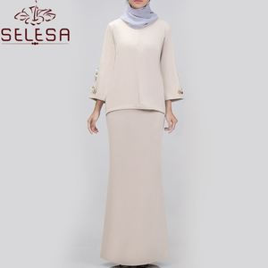 New Design Girls Clothes Loose Muslim Clothing Ladies Jalabiya Baju Suit