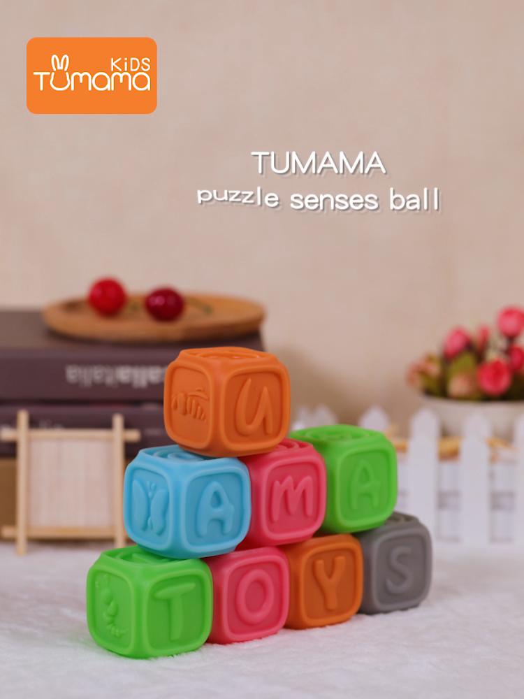 Mainan Blok Genggam AMAZON Ebay Produk Penjualan Laris Mainan OEM Blok Bangunan untuk Anak-anak ABS Plastik Bahan Ramah Lingkungan