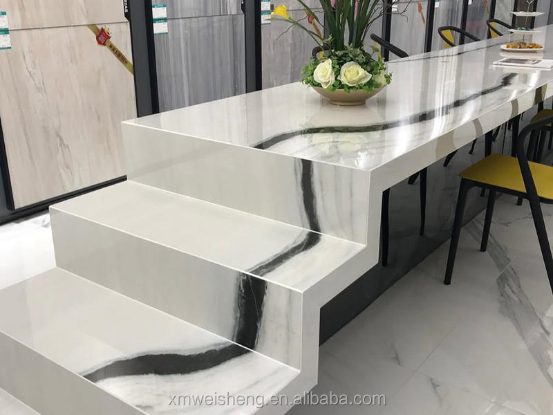 Natural marble front desks balustrade wall translucent slab tiles prices