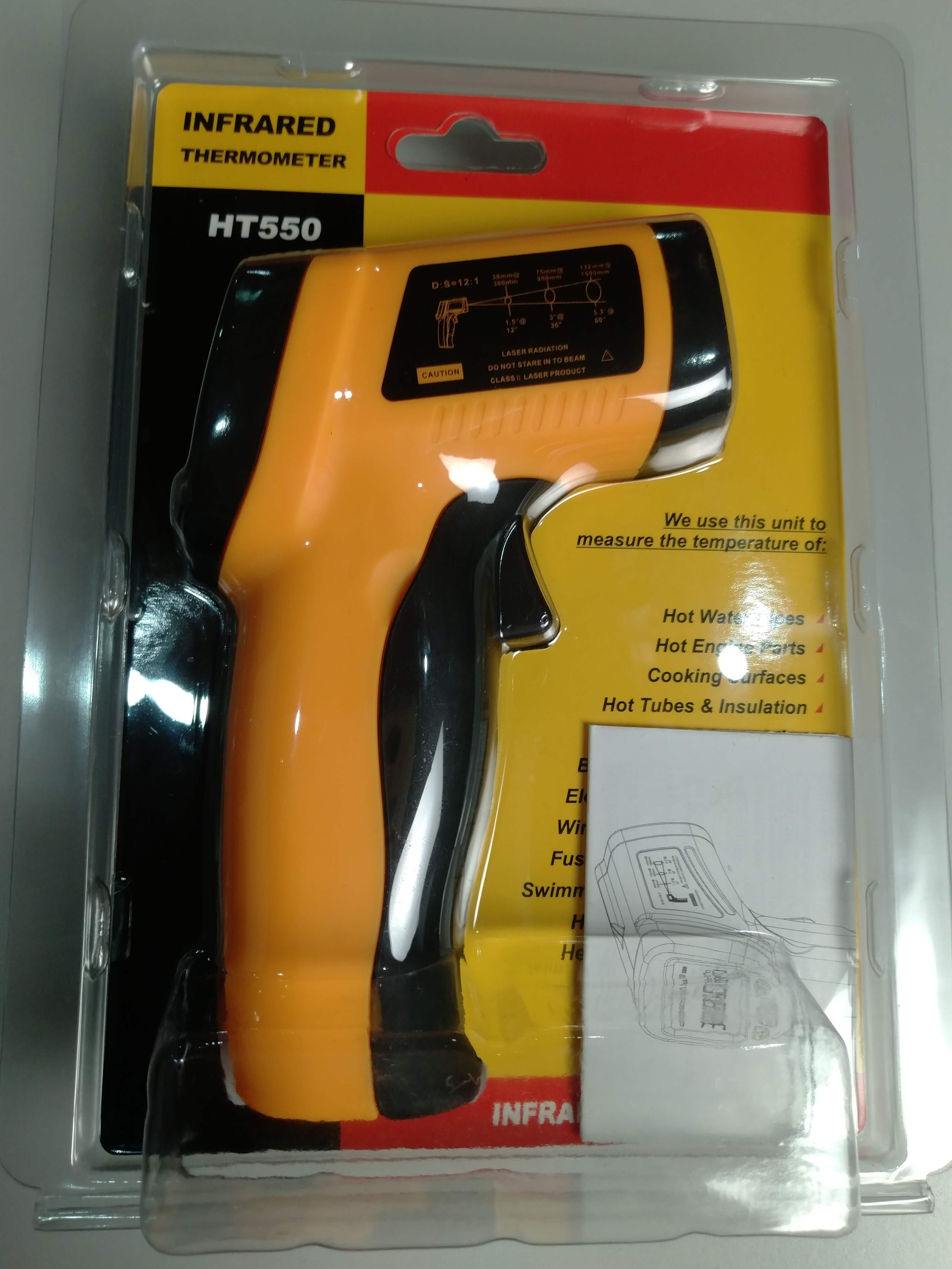 INDUSTRIAL USE Digital Temperature Gun Infrared thermometer laser thermometer HT550 - KingCare   KingCare.net