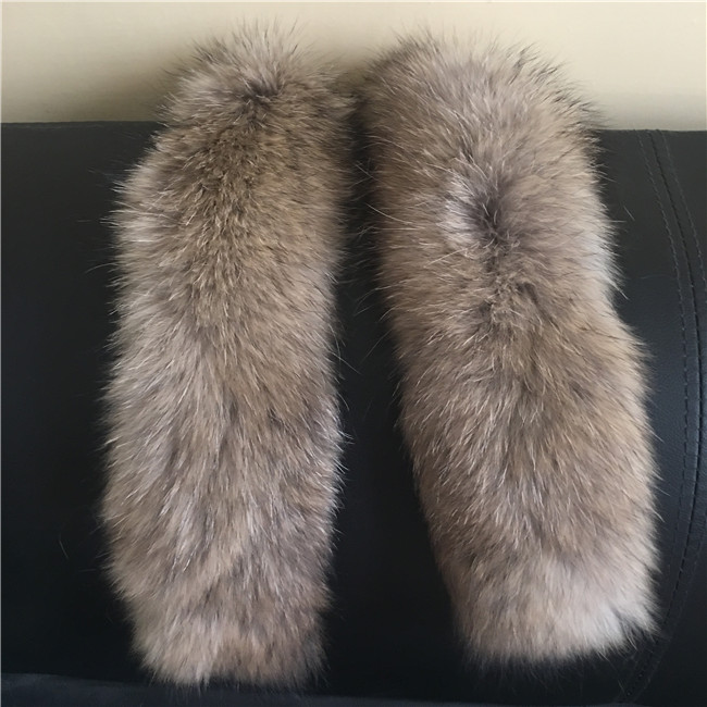 Genuine Raccoon Fur Collar Hood for Jacket