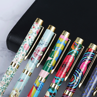 2019 Writing smooth different color gift souvenir metal stainless steel ball roller pen