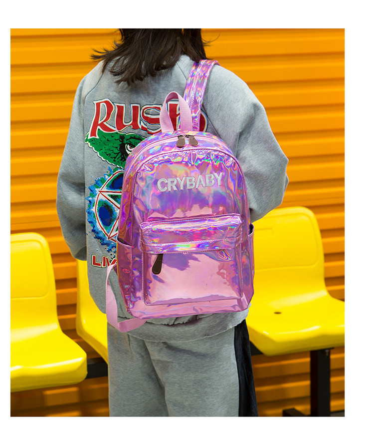 Top Selling New Unique Leather Laser Travel Backpack School Bags Backpacks for Girls