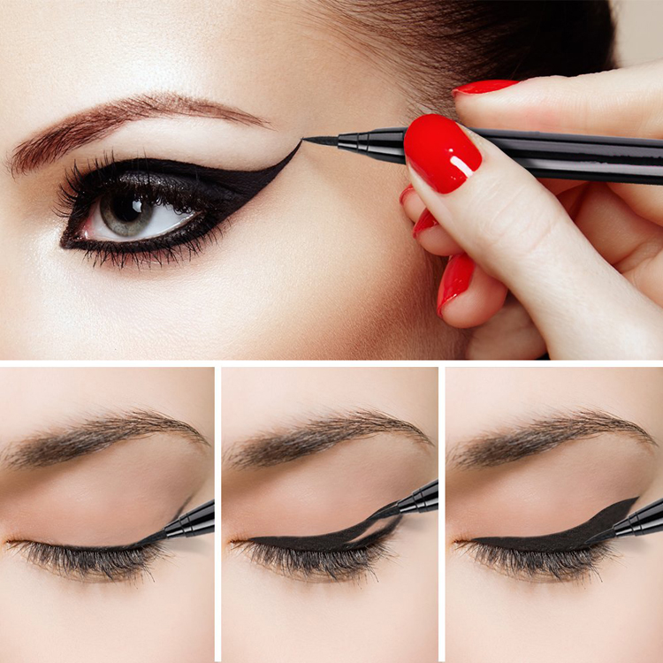 Customized private label black color makeup waterproof liquid eye liner eyeliners