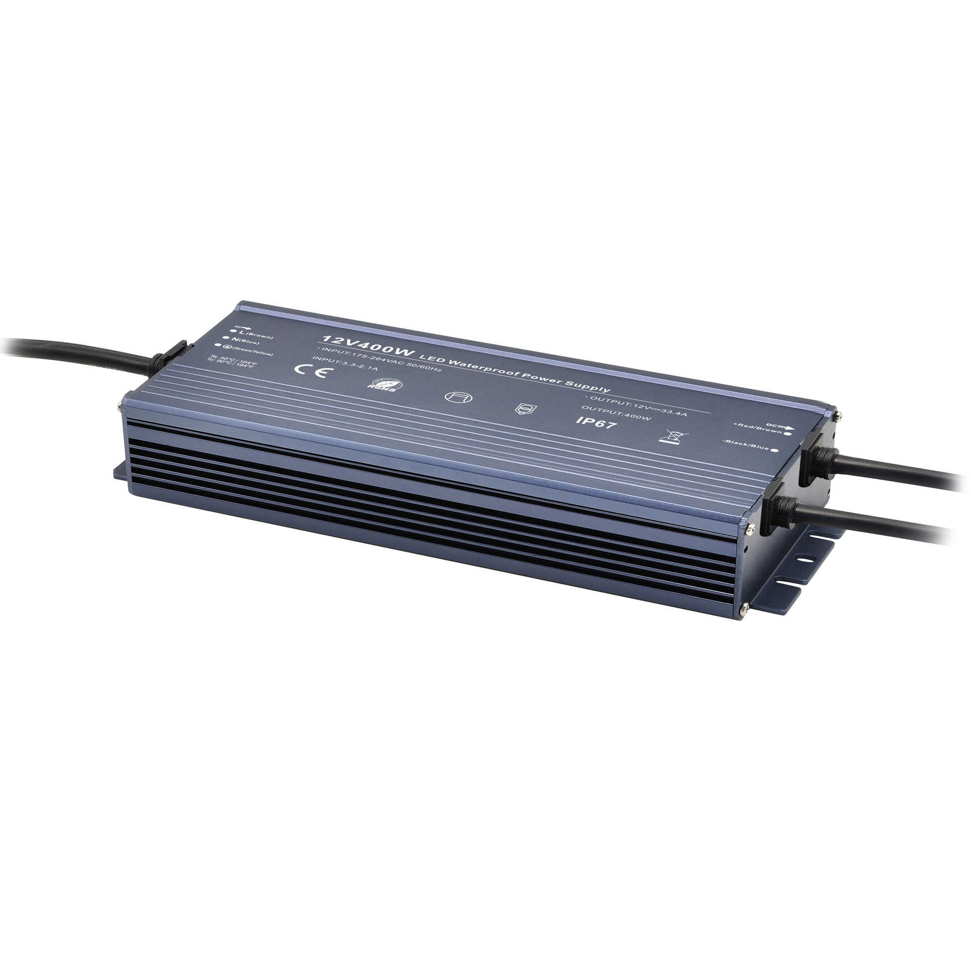 waterproof led power supply 12v 500W 400W 300w 200w ip67 led driver for outdoor led lighting