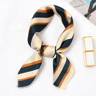 Factory Manufacturing high quality small square scarf small MOQ plain printed neck scarf for women