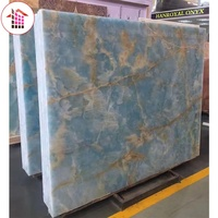 Premium wholesale Pakistan natural blue marble stone onyx slabs for dining table and wall panel