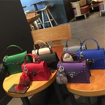 New Trendy Wholesale Fashion Cross body Shoulder clear colors Jelly Bag Tote Hand Bag for Women