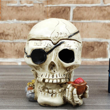 Hot sale personalized unique gift creative polyresin skulls ashtray wholesale