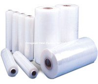 yalan packing new pe plastic materials 25 micron polyethylene jumbo stretch wrapping film roll