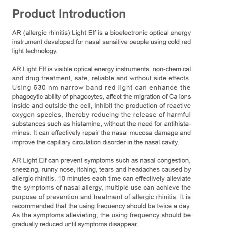 אלרגי נזלת טיפול, להקל על גודש באף, האף ריר וכאבי ראש מכשיר