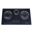 Table Gas 3 Burner Cooktops Copper / Iron Optional Tablegas3 Kitchen Gas Stove Appliance Kitchen Factory Made Table Tempered Glass Top Gas Stove 3 Burner Gas Cooktops