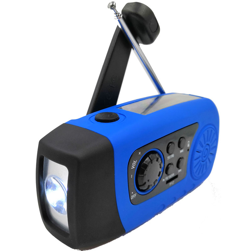Amazon Hot Selling Environmentally Protection Emergency Solar Hand Crank Radio With 1W Led Lighting