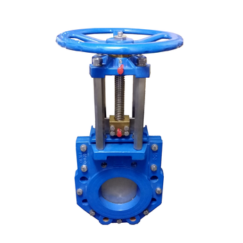 Api PN10/16 cast steel pneumatic handhwheel operated soft seal knife gate valve