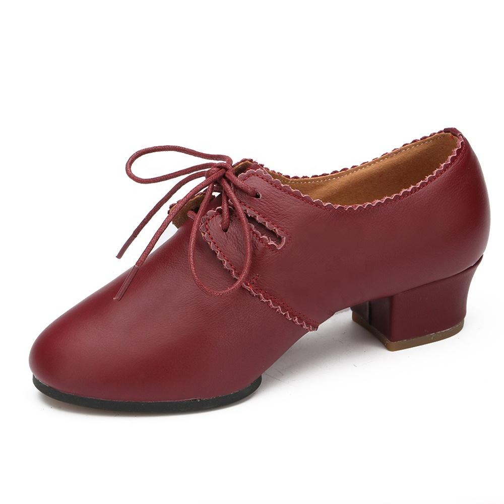 Ballroom training  dancing shoe  low heel modern dance shoes