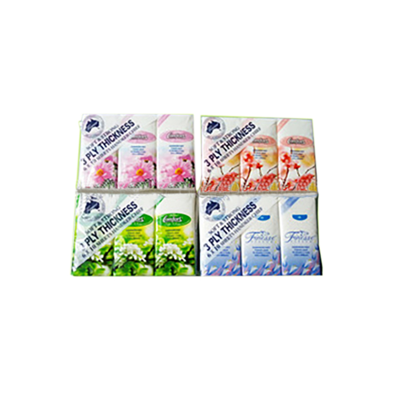 Promotion super lovely 2 ply embossing 8-10 sheets pocket tissue paper pack print