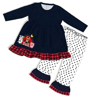 RTS High quality toddler fall clothing for kids Girls farm clothing winter clothes for kids