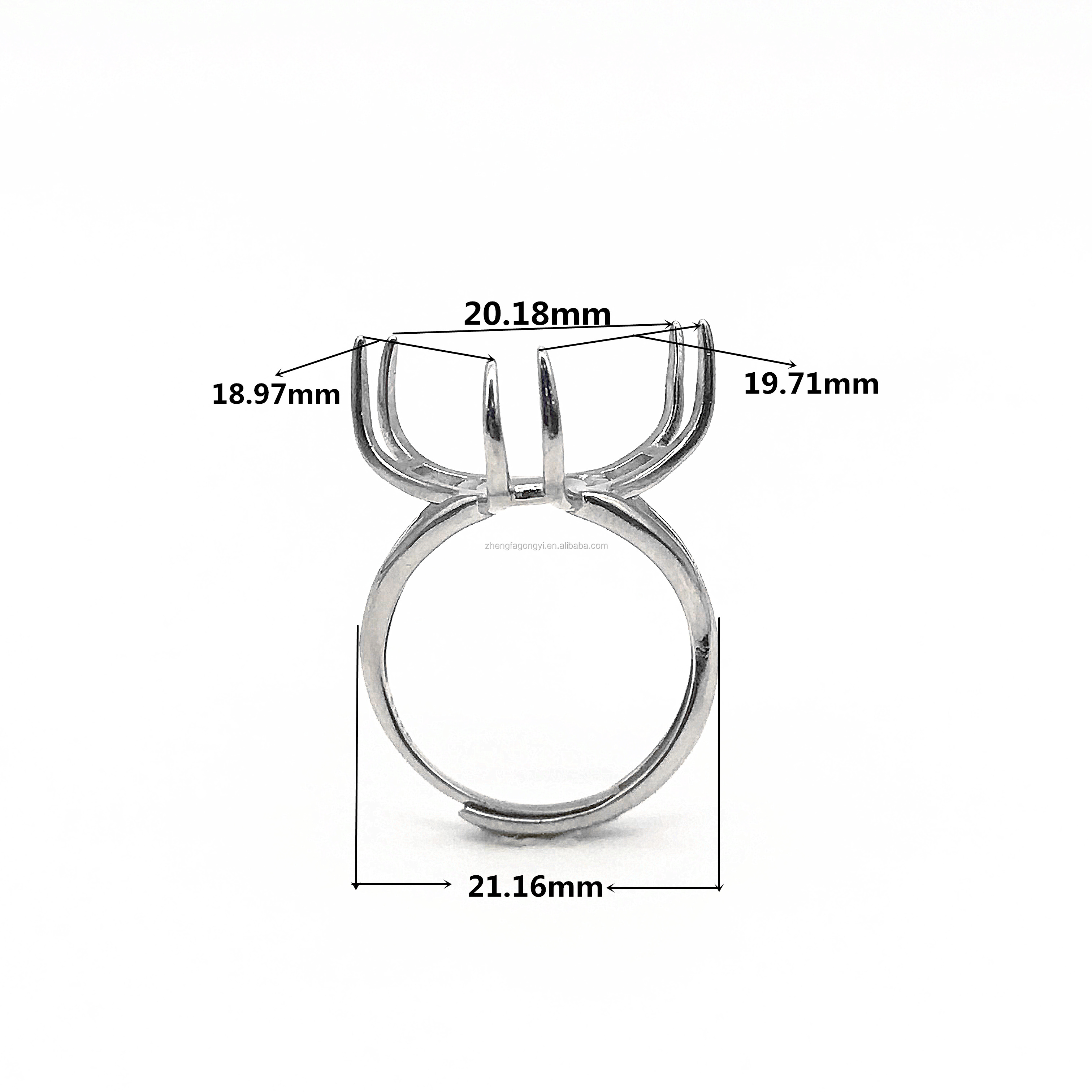 Modern Fashion wholesale 925 sterling silver ring mountings