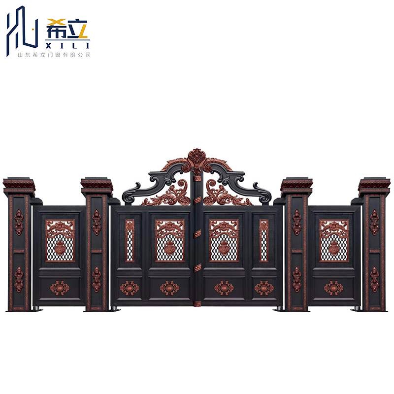 High end customized wholesale villa courtyard suburb aluminum alloy gate