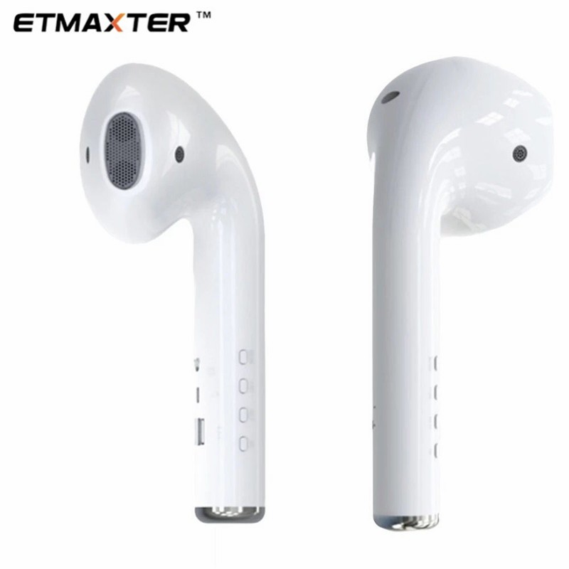 ETMAXTER 2020 New Style headset Bigger <strong>speaker</strong> <strong>wireless</strong> tws <strong>bluetooth</strong> with Radio TF card MK101 earphone