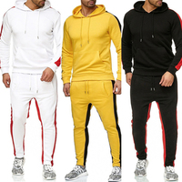 Men Clothing Track Suits Two Piece Sets Jogging wear Custom Logo OEM ODM Stripe 6 Colors Sweat Suits for Men RS00267