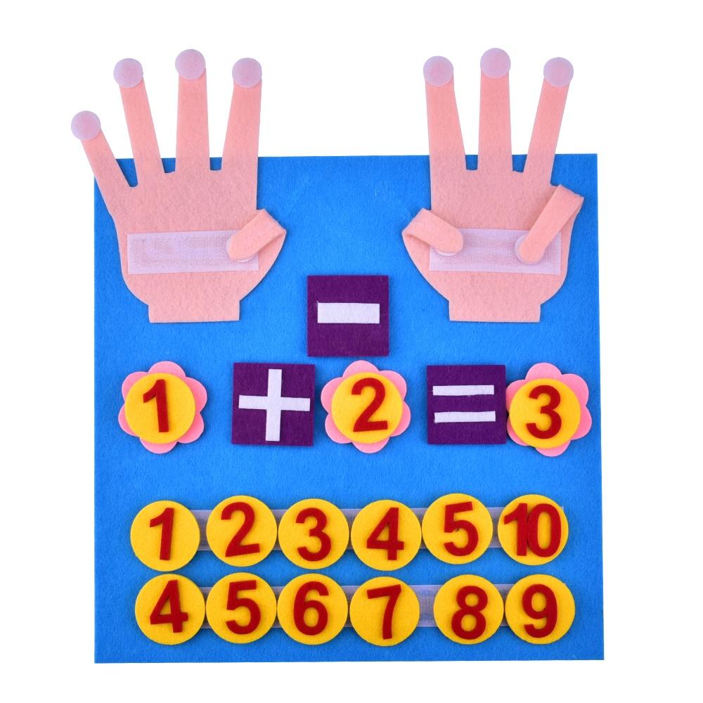 지적 양모 교육 완구 손가락 숫자 펠트 장난감 디지털 유치원 교육 조기 교육