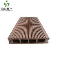 Low maintenance wood plastic composite outdoor deck floor