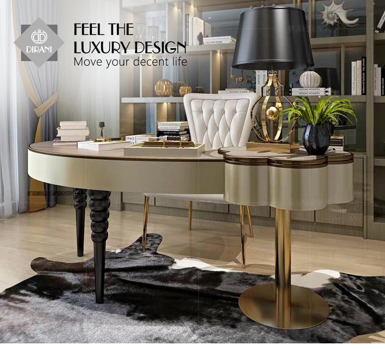 luxury home office desk table modern wood home office furniture set  computer desk workstation, View home office furniture, Dirani Product  Details from