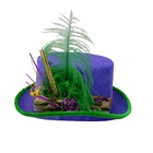 Holiday Purple Wholesale Women's Holiday Premium Purple Top Hat With Feather