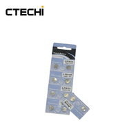 CTECHi CT-LR936/194/AG9 Battery 1.5V 60mAh Alkaline Button Batteries Coin Cell for Watch