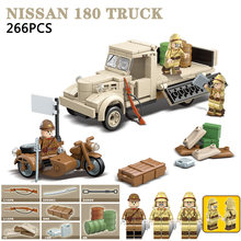WW2 военные Япония 180 строительные блоки для грузовиков WW2 армейские солдатские фигурки мотоцикл оружие части Кирпичи игрушки для детей пода...(Китай)