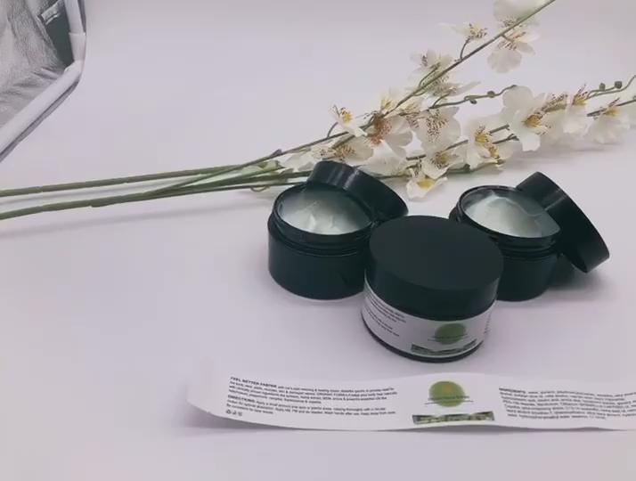 Marque privée visage crème Anti-Rides Anti-Âge Hydratant facial Massage CBD Huile De Chanvre Crème À Vendre