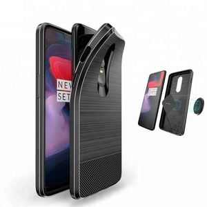 For Oneplus 6 Accessories,Shockproof Magnetic Soft TPU Back Cover For Oneplus 6 Case Silicone