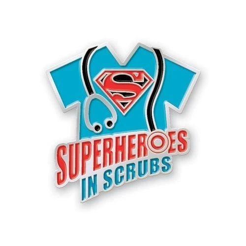 WD Superheros In Scrubs, Tapferkeit Doktor Nurse Wertschätzung Geschenk Revers Pin Brosche Mutig Pflege Mitarbeiter abzeichen Emaille Revers Pin