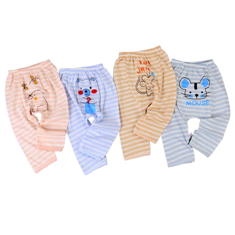 2020 new design baby clothes 0-3-year-old striped baby knitting pants ice silk baby pants Harem Pants