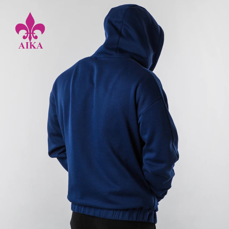 High Quality Custom New Casual Basic Style Soft Comfortable Men Sports Hoodie Jacket